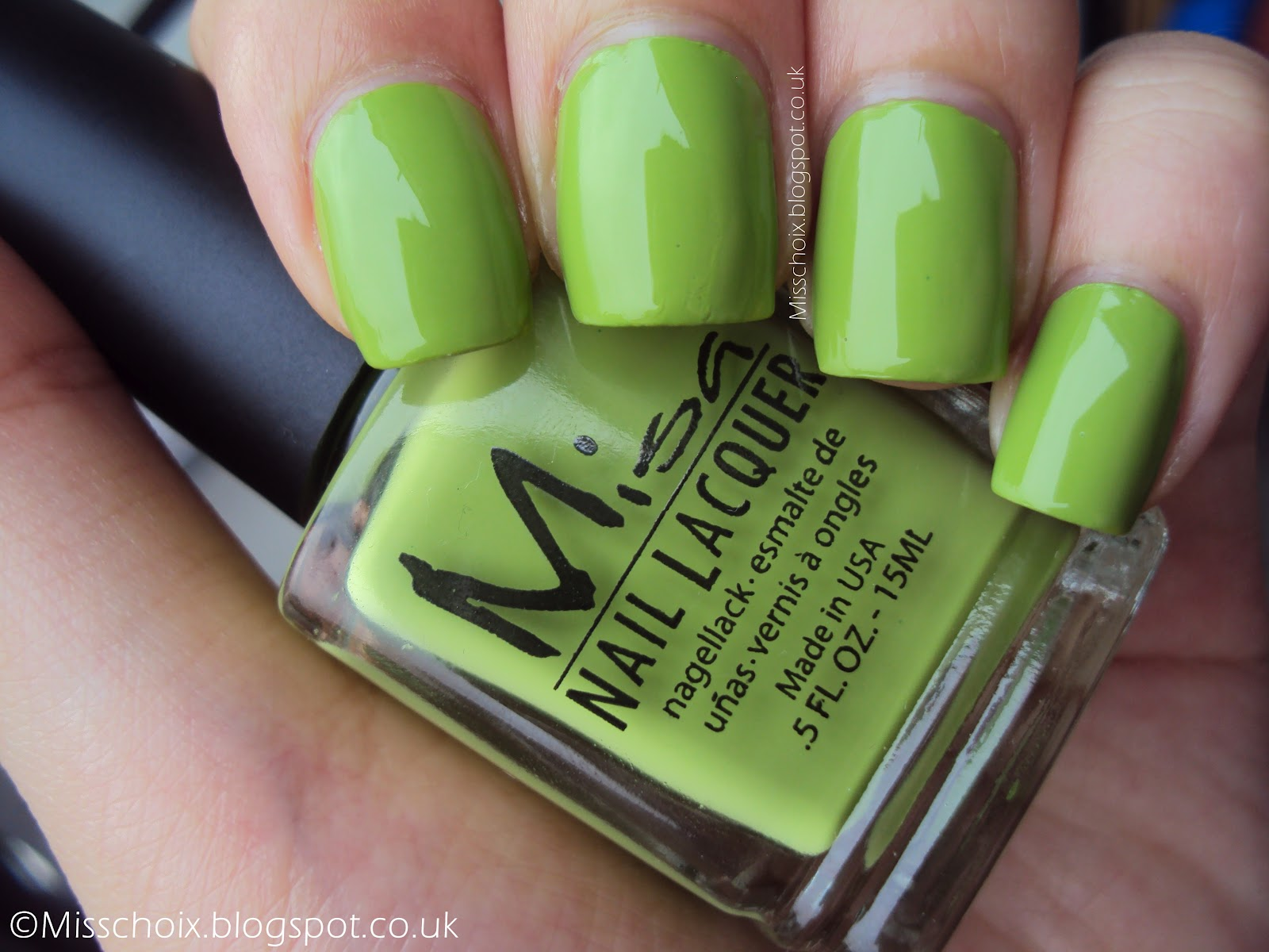 NOTD: Misa\'s good to be green - Choi\'s nails