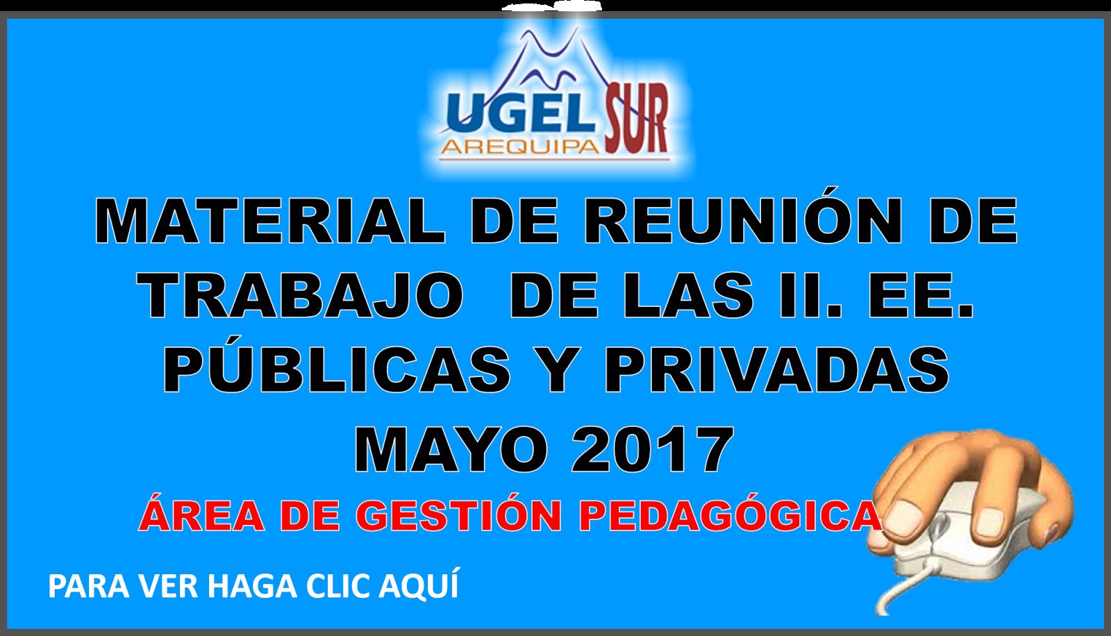 MATERIAL DE REUNIÓN DE TRABAJO  DE LAS II. EE. PÚBLICAS Y PRIVADAS