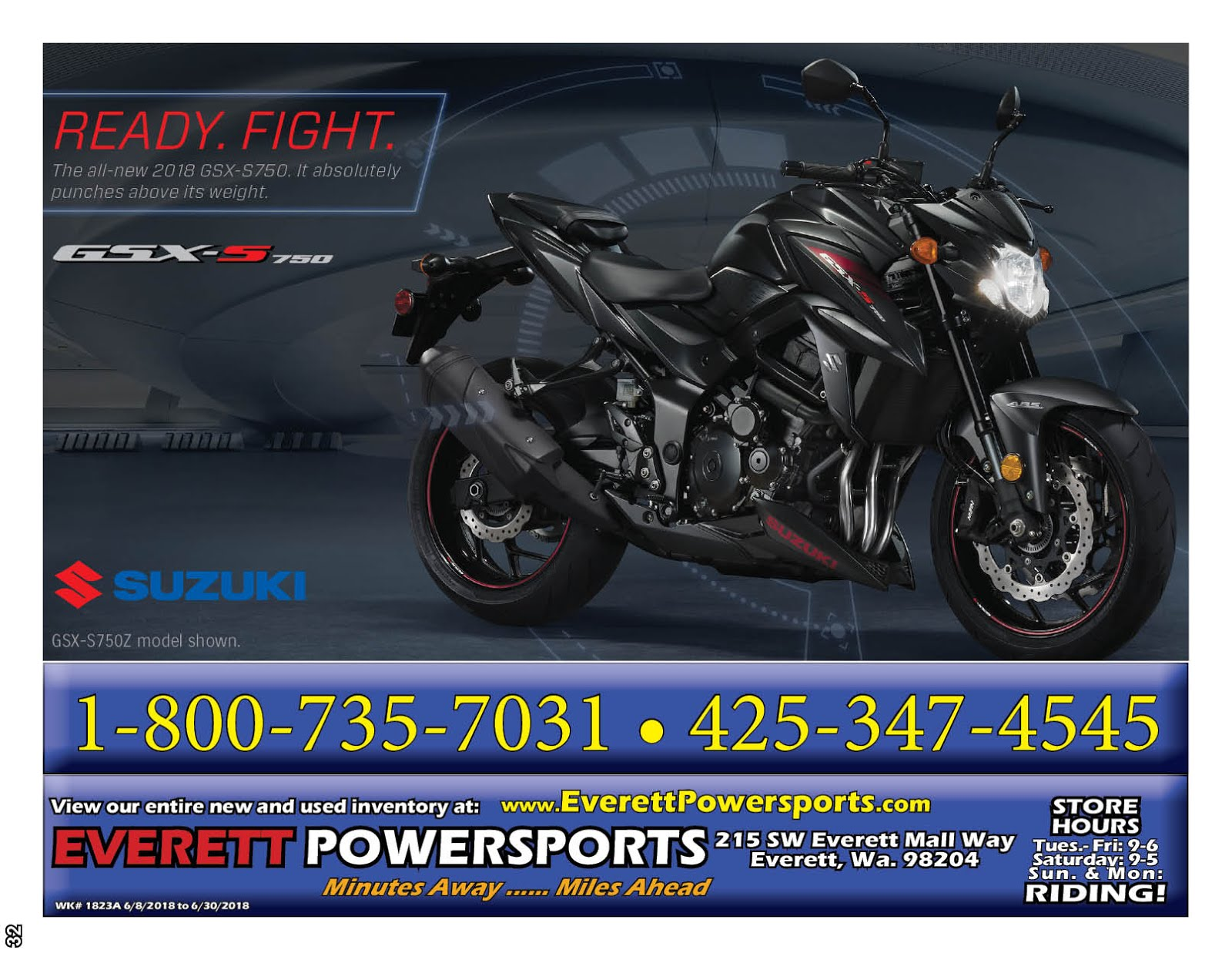 Everett Powersports Suzuki Sale!!