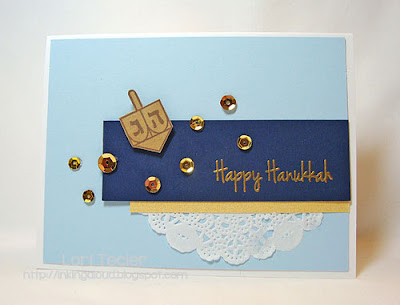 Happy Hanukkah-designed by Lori Tecler-Inking Aloud-stamps from CAS-ual Fridays