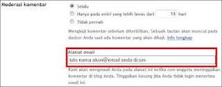 e-mail moderasi komentar