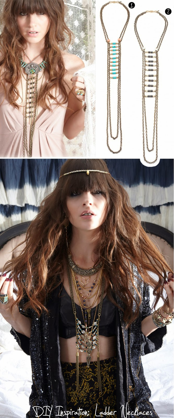 Design Thrift blog: DIY inspiration: ladder statement necklace