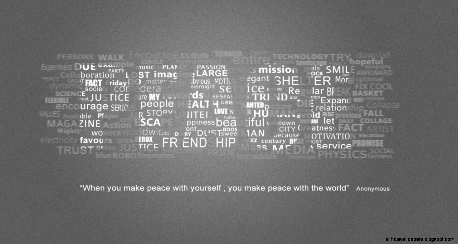 Typography Wallpaper PEACE in Photoshop CC CS6 CS5 CS3   YouTube