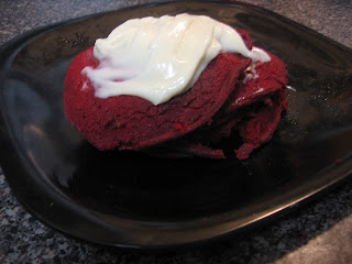 Red Velvet Pancakes with Cream Cheese Icing