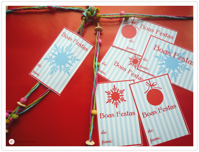 Free christmas gift labels from BistrotChic