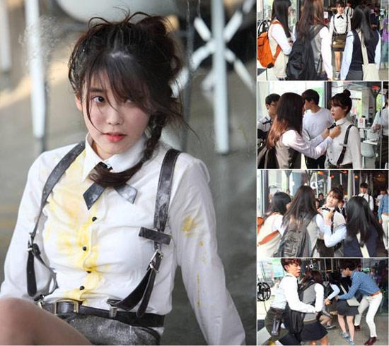 IU bị tấn công và ném trứng vào người, iu, phim cua iu, hau truong kpop, you're the best lee soon shin