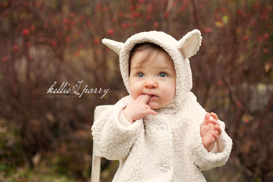 Baby Girl in Lamb Coat