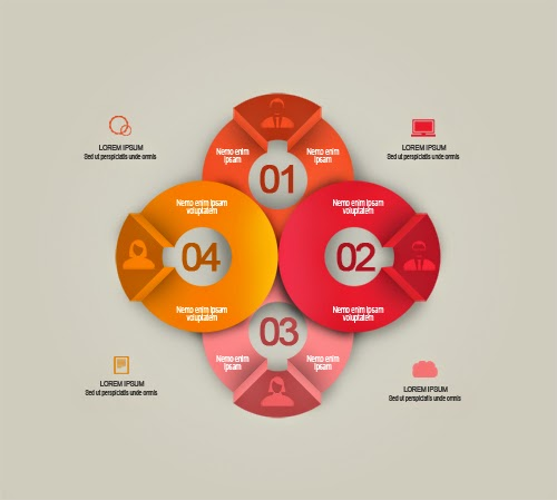 Free Psd Infographic Creative Round