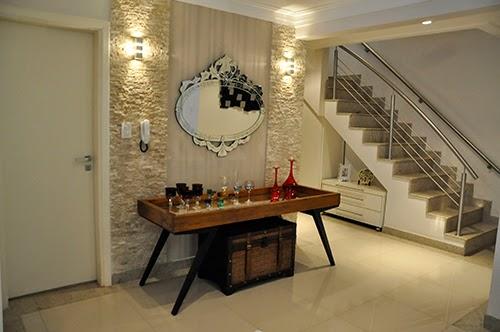 Adesivo Para Geladeira Pinguim ~ Construindo Minha Casa Clean 50 Hall de Entrada de Casas Modernas! Veja Dicas de como Decorar!