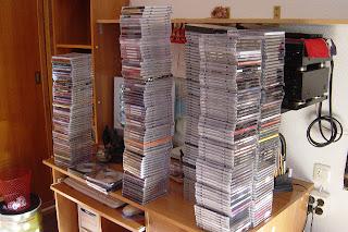 Estantería de CDs