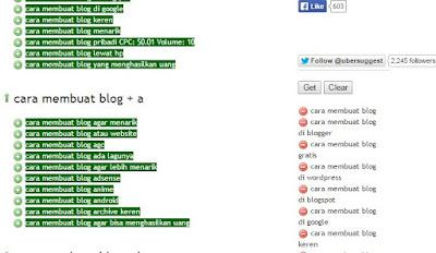 cara mendapatkan keyword untuk blog dengan ubersuggest