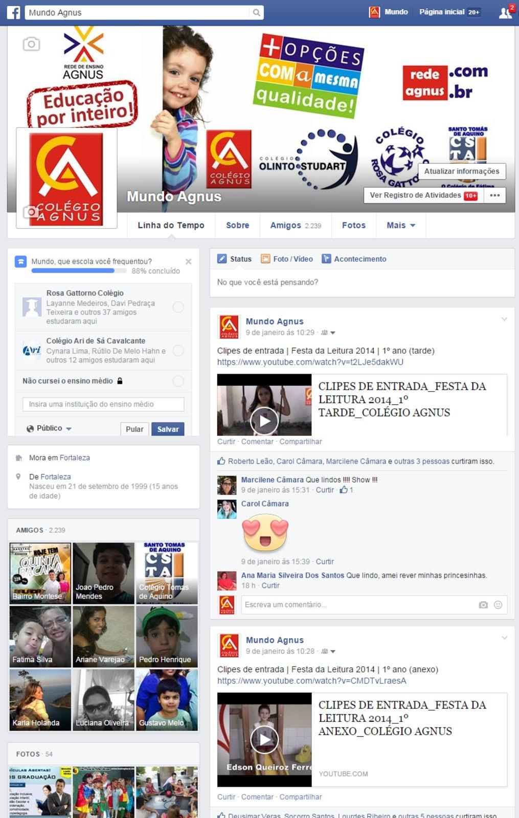 Facebook: Mundo Agnus