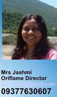 Oriflame Director Mrs Jashmi