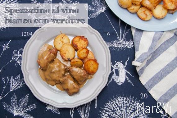 ricetta di spezzatino al vino bianco con verdure