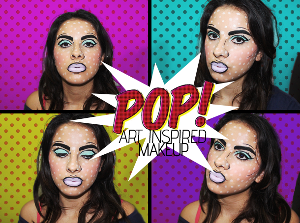 pop art comic halloween makeup