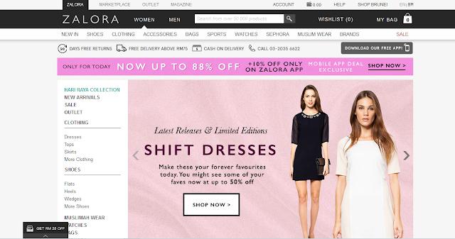 Pengalaman Shopping Online di Zalora Malaysia