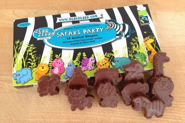 Zero Zebra Safari Party Dairy-Free Chocolate Animals