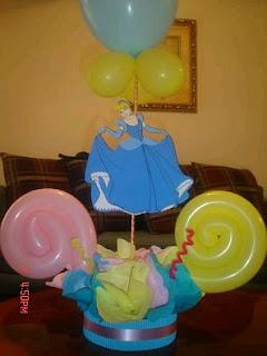 Cinderella centerpieces, children parties decoration