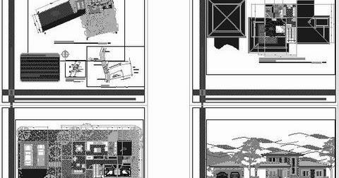 Projet d 39 une maison deux niveaux fichier autocad for Architecture a 3 niveaux