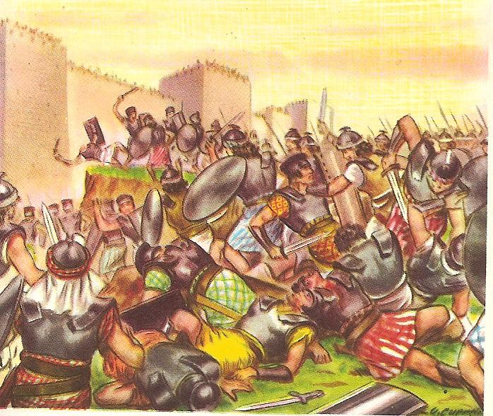 Resultado de imagem para Davi contra os Filisteus