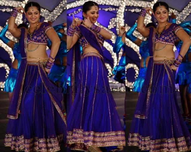 Anushka Shetty Purple Half Saree