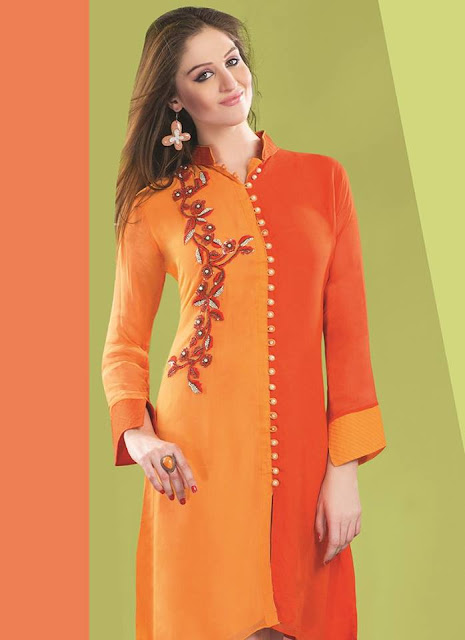 latest casual women long kurta collection 2015 traditional