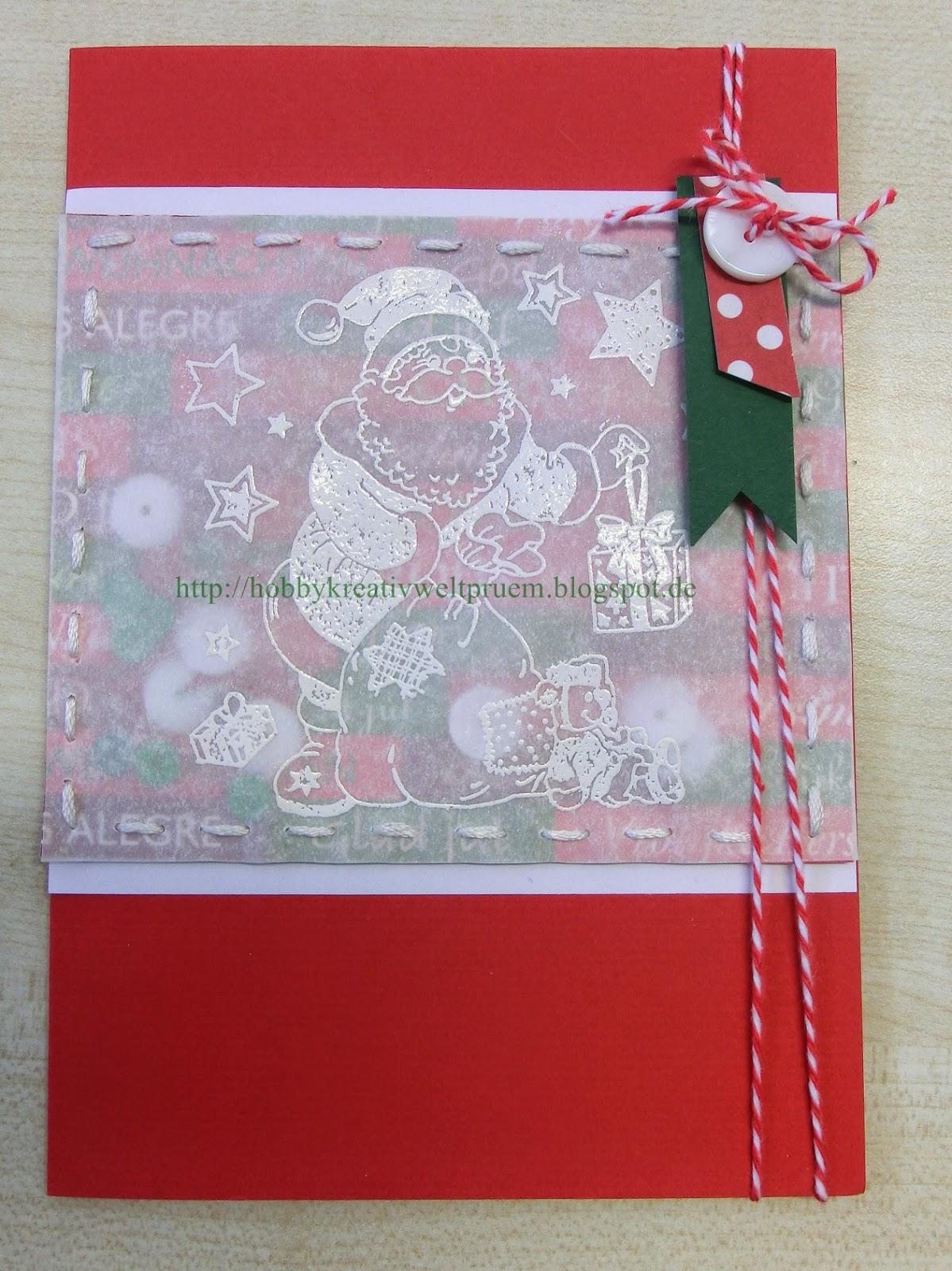 Hobby kreativ welt weihnachtskarten for Weihnachtskarten kreativ