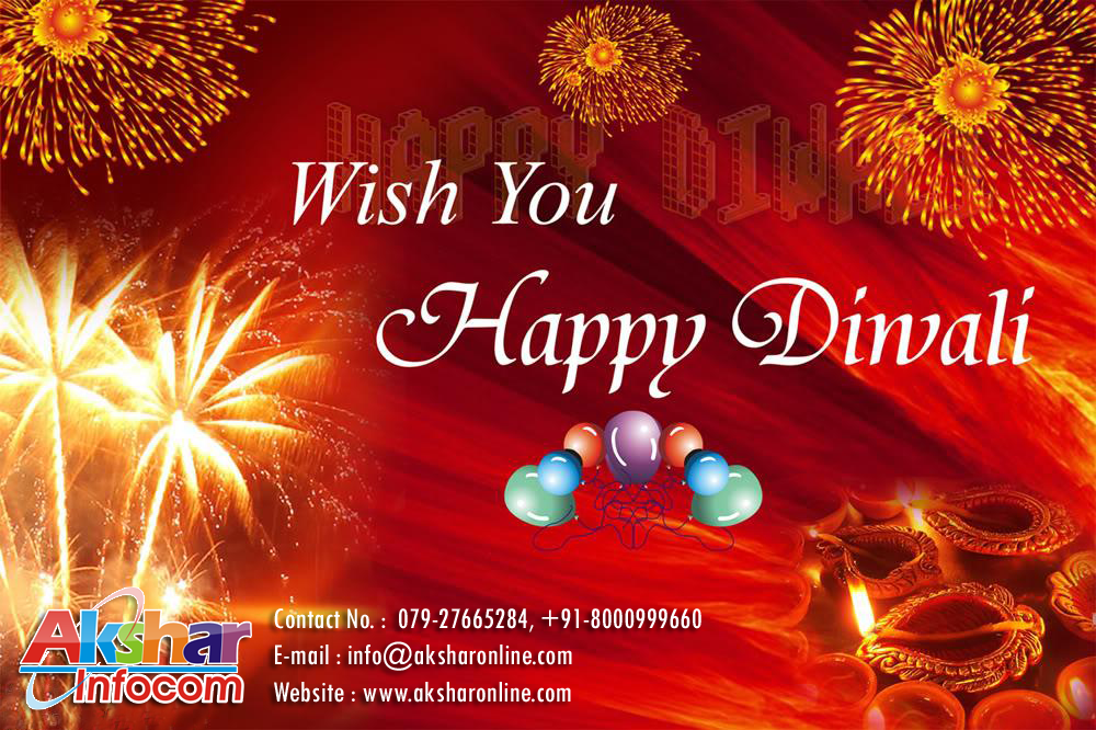 Happy Diwali - Akshar Infocom, Railway Ticket, Domestic and International Air Ticket, Hotel Booking, Adlabs Imagica Ticket, Bus Ticket, Volvo Ticketing, Tour Packages, Westerm Union, Car Rental