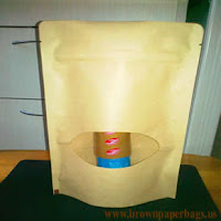 Brown paper bags with window