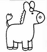 animais para pintar, animais para imprimir, animais,desenhos para imprimir, desenhos para pintar, cavalo