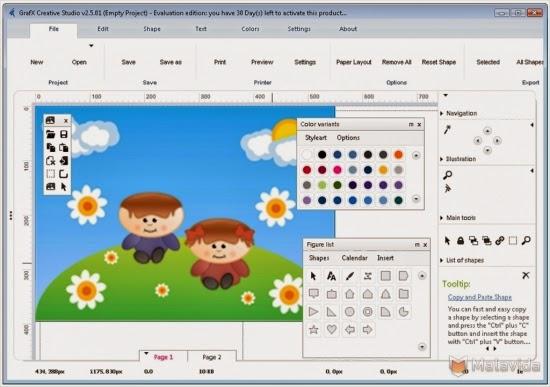 برنامج grafx creative studio 2014 لتصميم الشعارات واللوجو اخر اصدار