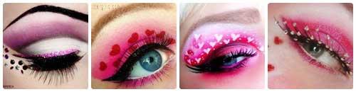 Maquillajes de ojos para San Valentin collage