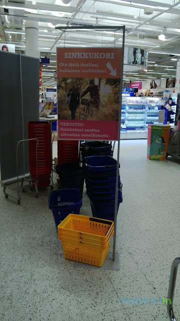 Single baskets (Sinkkukori) at K-Citymarket in Iso Omena