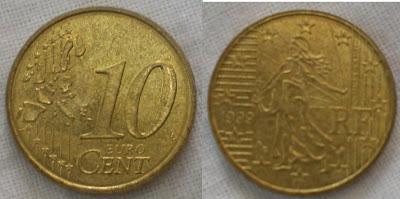 france 10 cent 1999