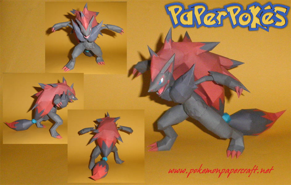 Pokemon Zoroark Paper Model