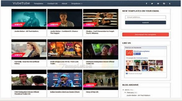 vubetube video blogger template