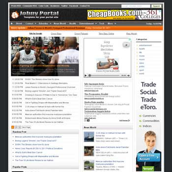 Johny Portal blogger template. clean template for blogger template. portal news blogger template