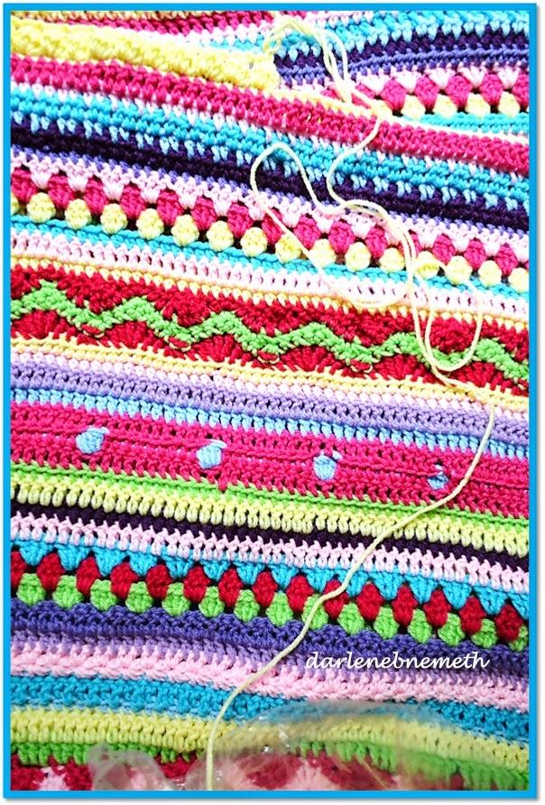 Bonito Patrón Afghan Crochet Sampler Molde - Manta de Tejer Patrón ...
