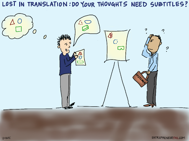 %23entrepreneurfail+Lost+in+Translation - (Comic) Lost in Translation: Do your Thoughts Need Subtitles?
