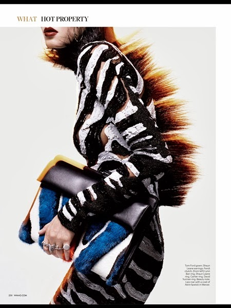 Tom Ford Fall Collection 2013 Zebra dress