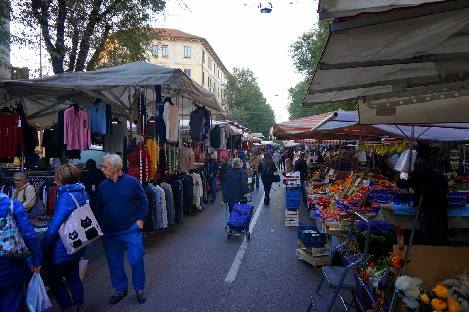 Open air market in milan joie de vivre blog by g4gary for Milan food market