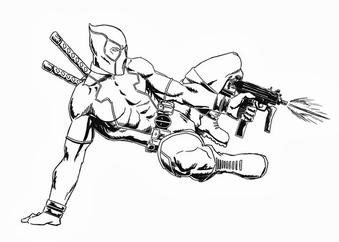 deadpool coloring page free coloring pages and coloring