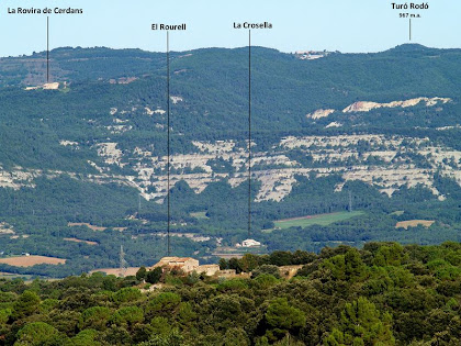 Vistes dels Cingles de Centelles des del Coll de Can Rovira