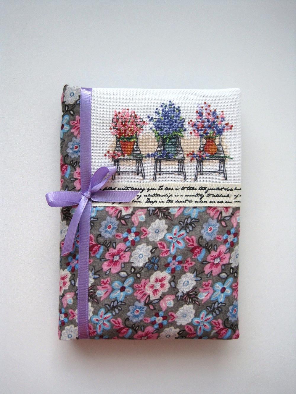 Текстильная обложка для блокнота