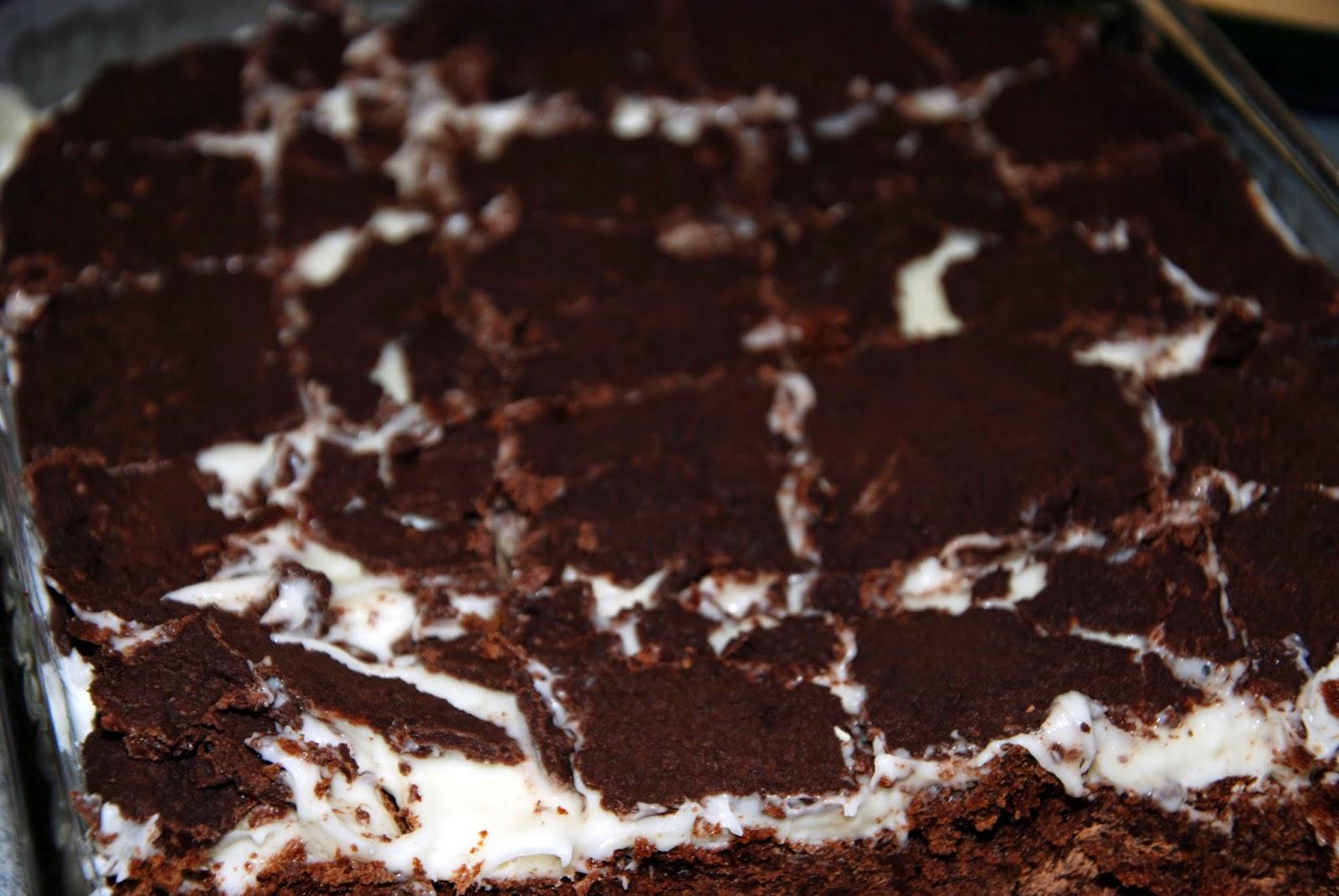 mint cream brownies