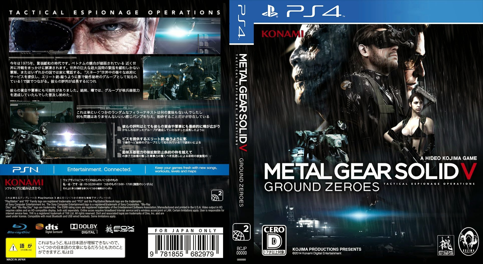 Capa Metal Gear Solid V Ground Zeroes PS4