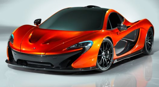exterior of the mclaren p1 supercar front-view sports car convertible