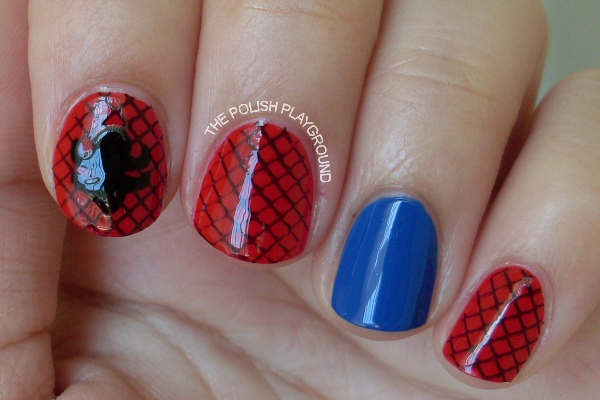 Spider-man Inspired Nails