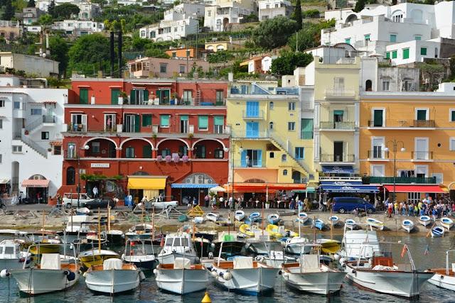 Marina Grande Capri fisher boats