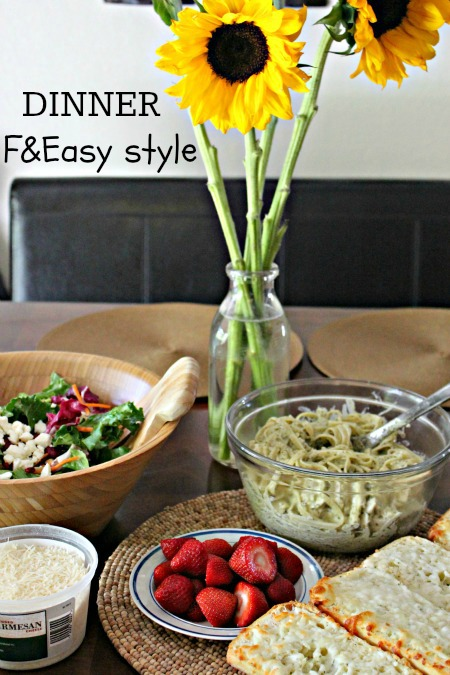 Easy Dinner Idea from Fresh & Easy! #recipes #pestosauce #fneasy